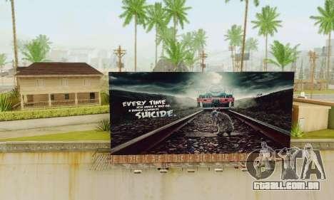 Novo de alta qualidade publicidade em cartazes para GTA San Andreas segunda tela