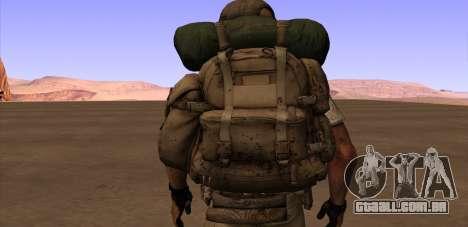 Рюкзак из MOH Warfighter para GTA San Andreas por diante tela