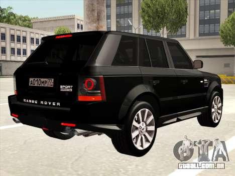 Range Rover Sport para vista lateral GTA San Andreas