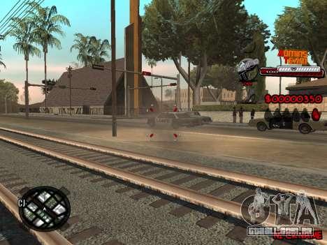 C-HUD Admins Team para GTA San Andreas por diante tela