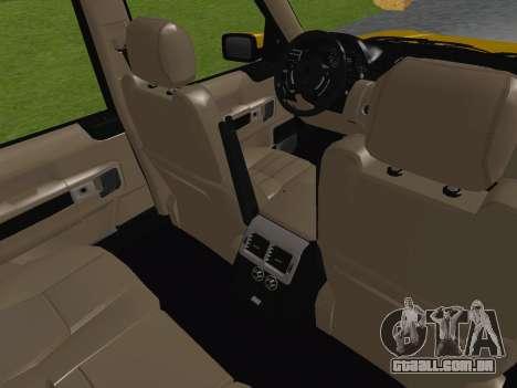 Range Rover Supercharged Series III para GTA San Andreas vista superior