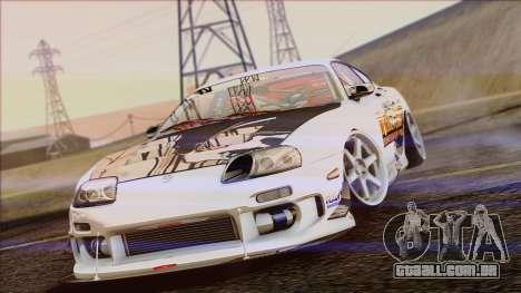 Toyota Supra 1998 Top Secret para GTA San Andreas vista traseira