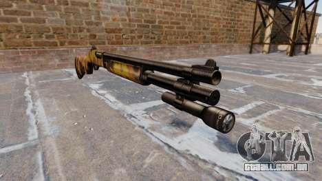 Riot espingarda Remington 870 Queda Camos para GTA 4