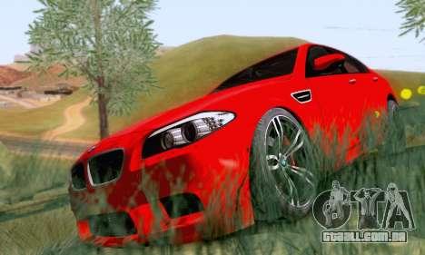 BMW F10 M5 2012 Stock para GTA San Andreas traseira esquerda vista