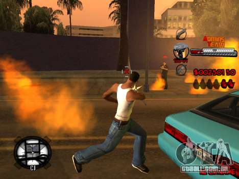 C-HUD Admins Team para GTA San Andreas décimo tela