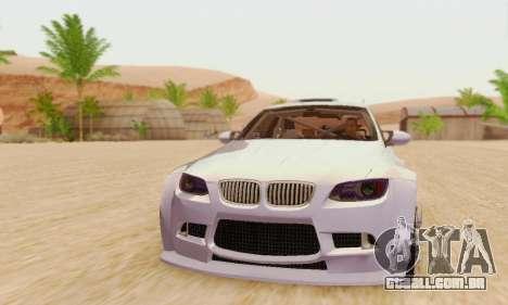 BMW M3 E92 SHD Tuning para GTA San Andreas esquerda vista