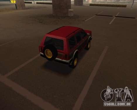 Landstalker V2 para GTA San Andreas traseira esquerda vista