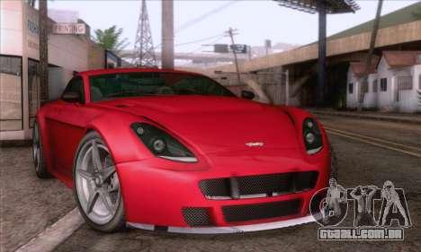 GTA V Rapid GT para GTA San Andreas traseira esquerda vista