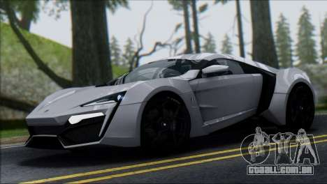 W Motors Lykan Hypersport 2013 para GTA San Andreas