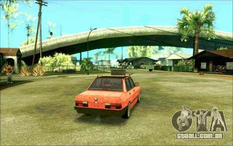 BMW M5 E28 RatStyle para GTA San Andreas vista direita