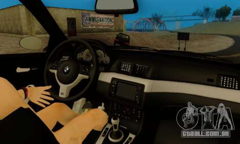 BMW M3 E46 para GTA San Andreas vista inferior