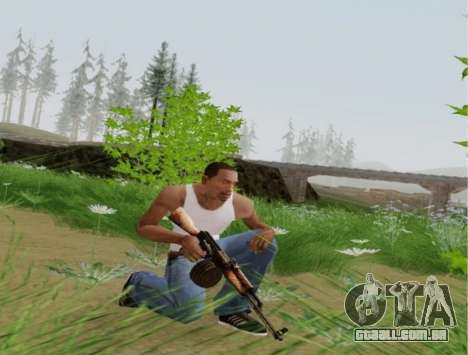 Kalashnikov Metralhadora Leve para GTA San Andreas por diante tela