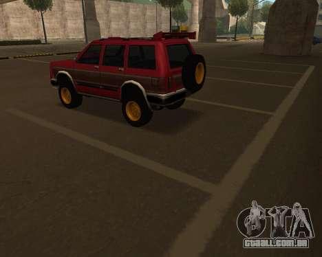 Landstalker V2 para GTA San Andreas vista superior