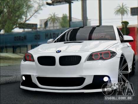BMW 550 F10 VOSSEN para GTA San Andreas vista direita