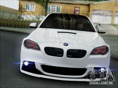BMW 550 F10 VOSSEN para GTA San Andreas esquerda vista