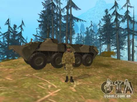 Pak exército russo serviço para GTA San Andreas