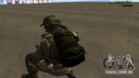 U.S. Navy Seal para GTA San Andreas nono tela
