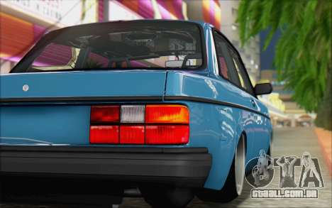 Volvo 242 Stance 1983 para GTA San Andreas traseira esquerda vista