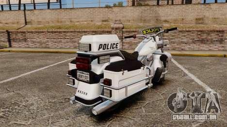 GTA V Western Motorcycle Police Bike para GTA 4 vista direita