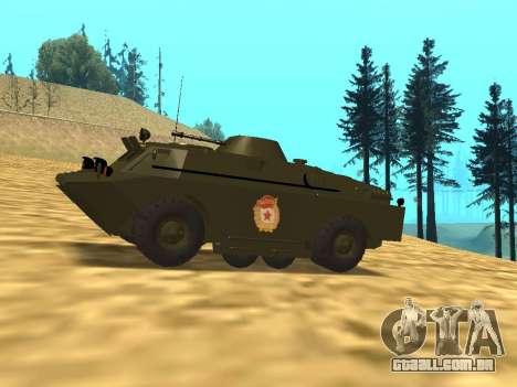 Guardas BRDM-2 para GTA San Andreas esquerda vista