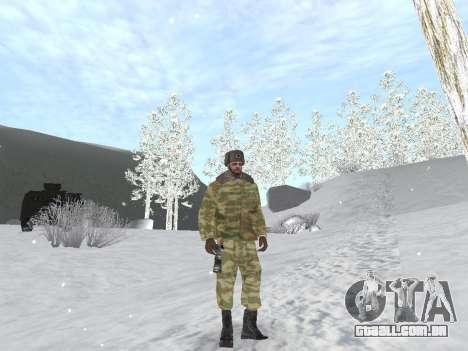 Pak exército russo serviço para GTA San Andreas quinto tela