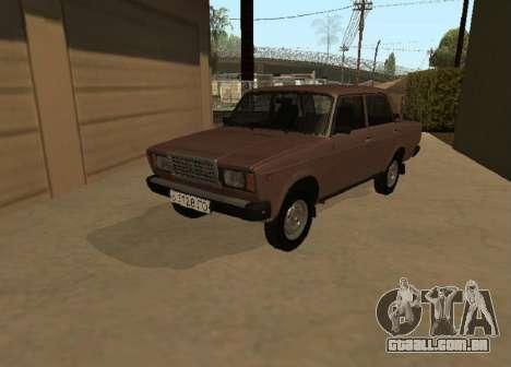 VAZ 2107 versão inicial para GTA San Andreas