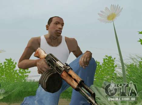 Kalashnikov Metralhadora Leve para GTA San Andreas quinto tela