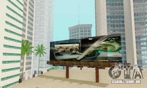 Novo de alta qualidade publicidade em cartazes para GTA San Andreas décimo tela