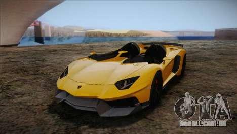 Lamborghini Aventandor J 2010 para GTA San Andreas vista interior