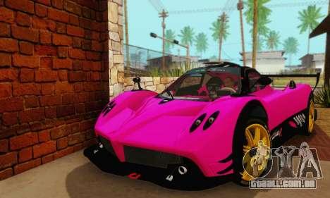 Pagani Zonda Type R Pink para GTA San Andreas vista direita