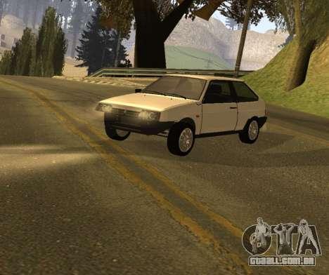ВАЗ 2108 GVR Versão 1.2 para GTA San Andreas