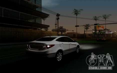 Hyundai Solaris para GTA San Andreas vista interior
