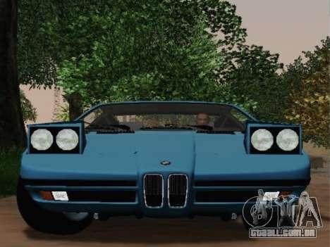 BMW M1 Turbo 1972 para GTA San Andreas vista direita