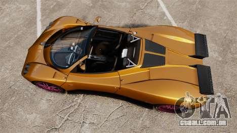 Pagani Zonda C12 S Roadster 2001 PJ2 para GTA 4 vista direita