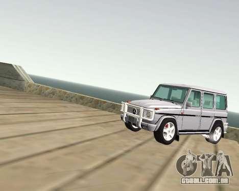 Mercedes-Benz G500 Brabus para GTA San Andreas vista interior