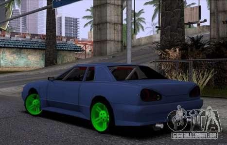 Nova Elegia para GTA San Andreas traseira esquerda vista