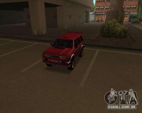 Landstalker V2 para GTA San Andreas vista interior