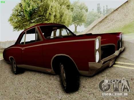 Pontiac GTO 1967 para GTA San Andreas esquerda vista