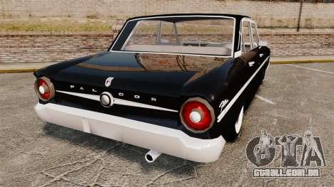 Ford Falcon 1963 para GTA 4 traseira esquerda vista