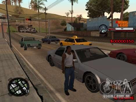 C-HUD Admins Team para GTA San Andreas segunda tela