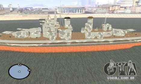 HMS Prince of Wales para GTA San Andreas segunda tela