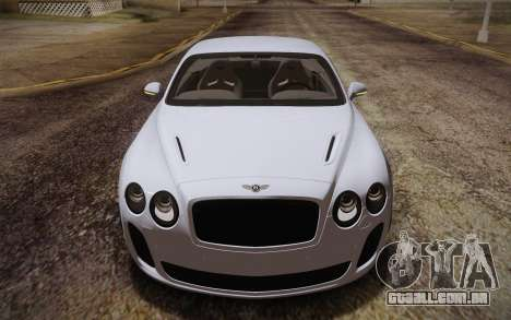 Bentley Continental SuperSports 2010 v2 Finale para GTA San Andreas vista interior