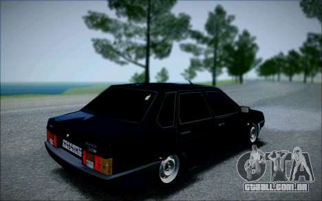 VAZ 21099 o Bandido para GTA San Andreas traseira esquerda vista