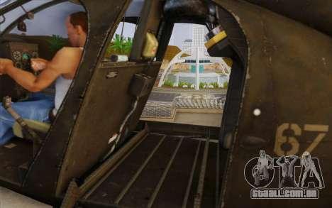 MH-6 Little Bird para GTA San Andreas traseira esquerda vista