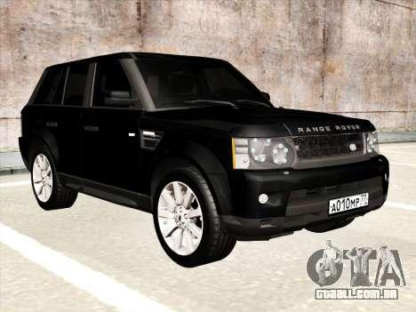 Range Rover Sport para GTA San Andreas vista interior
