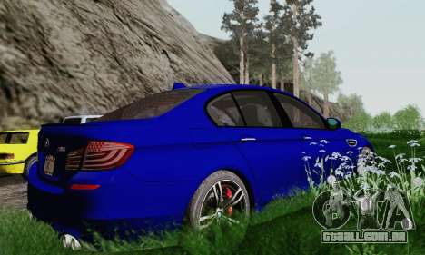 BMW F10 M5 2012 Stock para GTA San Andreas vista superior