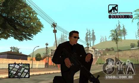 C-HUD by Miller para GTA San Andreas por diante tela