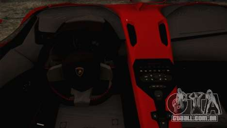 Lamborghini Aventandor J 2010 para GTA San Andreas vista traseira
