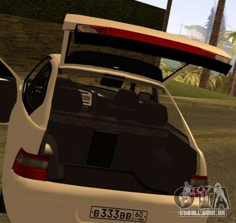 ВАЗ 2112 GVR Versão 1.1 para GTA San Andreas vista traseira