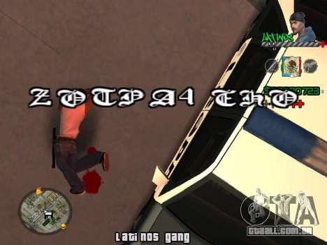 C-HUD Latinos by K.D para GTA San Andreas terceira tela